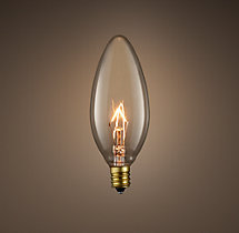 Torpedo Candelabra Filament Incandescent Bulb (Set of 6)