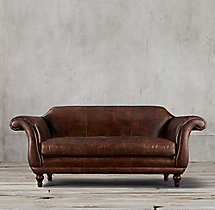 "84"" Regency Leather Sofa"