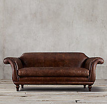 "96"" Regency Leather Sofa"