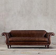 "108"" Regency Leather Sofa"