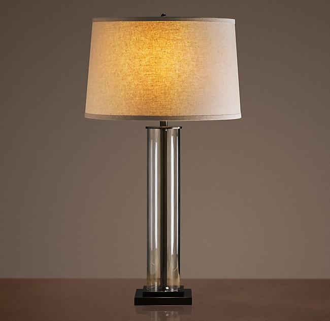 Glass Table Lamp french column glass table lamp