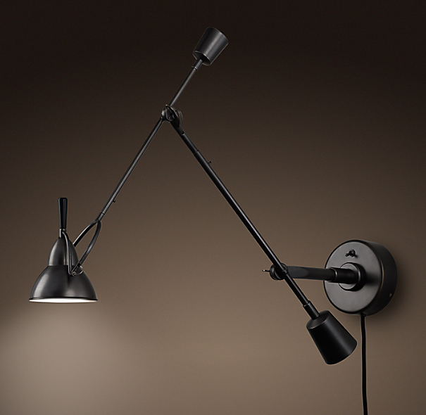 Counterpoise Swing Arm Sconce