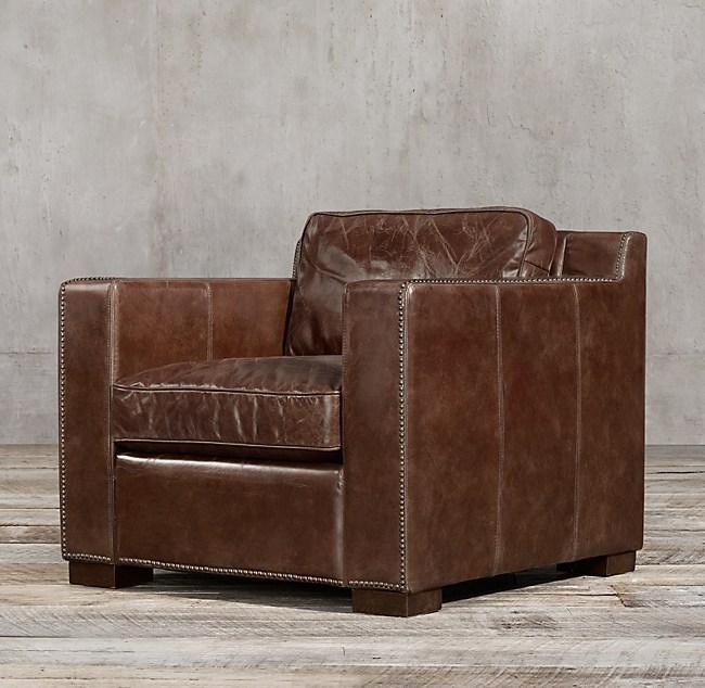 Cool Collins Leather Chair With Nailheads Creativecarmelina Interior Chair Design Creativecarmelinacom