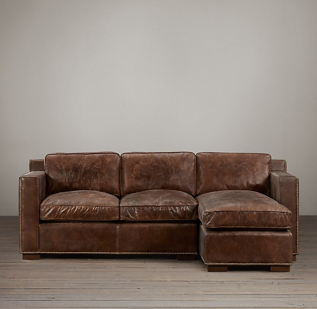Cigar Leather Sofa For Sale