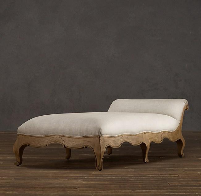 Louis XV Sleigh-Back Chaise on