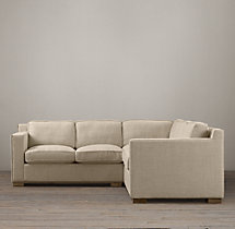 Preconfigured Collins Upholstered Corner Sectional With Nailheads