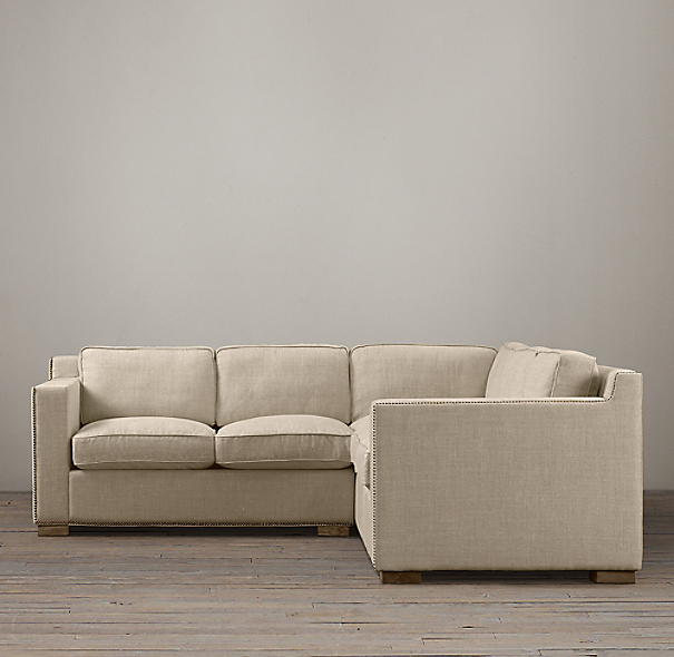 Collins Upholstered Customizable Sectional With Nailheads