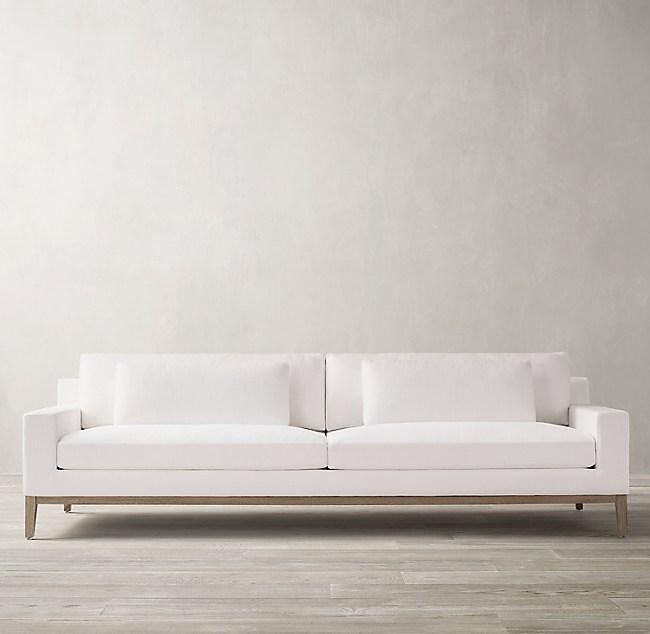 Italia Track Arm Sofa - Oak Base