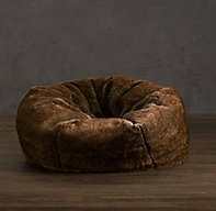 Luxe Faux Fur Bean Bag Coyote