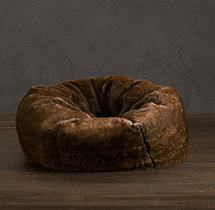 Luxe Faux Fur Bean Bag - Coyote