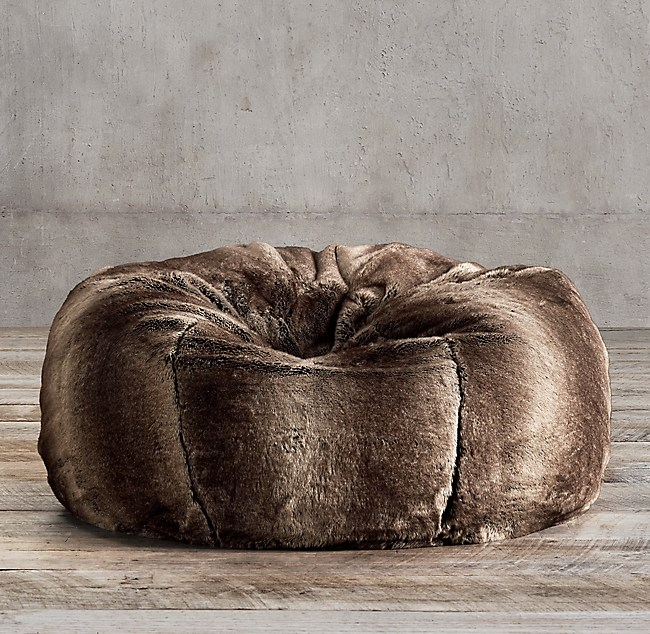 Prime Luxe Faux Fur Bean Bag Squirreltailoven Fun Painted Chair Ideas Images Squirreltailovenorg