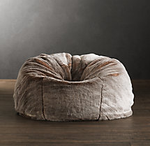 Luxe Faux Fur Bean Bag - Lynx