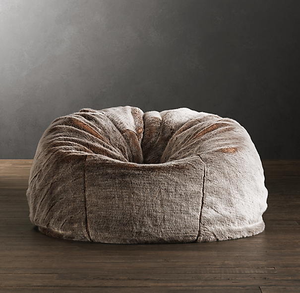 Luxe Faux Fur Bean Bag Lynx