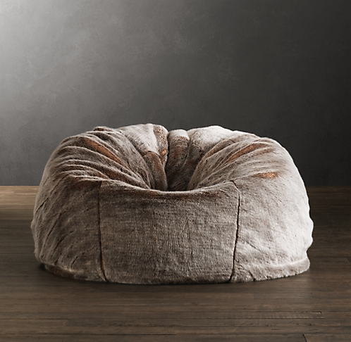 c6b6c8fd6cc special holiday savings. limited time only. Luxe Faux Fur Bean Bag