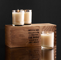 Provençal Bath Filled Candles (Set of 3)