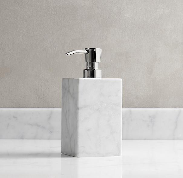 Carrara Marble Soap Dispenser