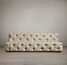 7' Soho Tufted Upholstered Armless Sofa