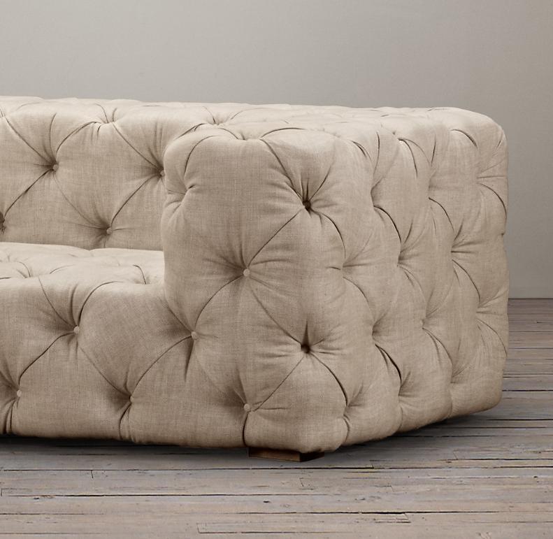 7 Soho Tufted Upholstered Sofa