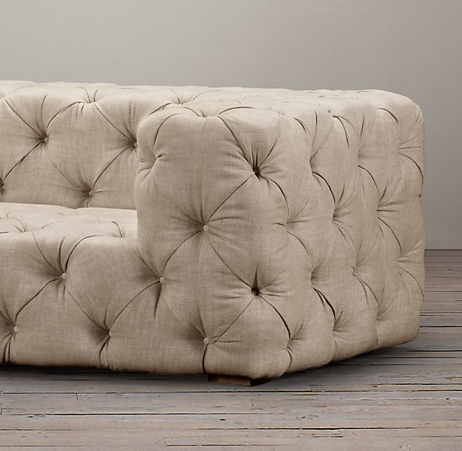 Tufted Upholstered Sofa - Tufted upholstered sofa