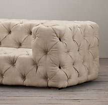 7' Soho Tufted Upholstered Sofa