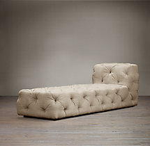 Soho Tufted Upholstered Armless Chaise