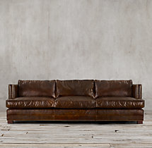 9' Easton Leather Sofa