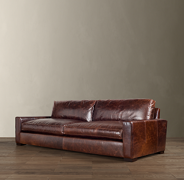 Restoration Hardware Leather : Maxwell leather sleeper sofa