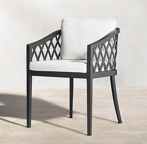 2181ad332c2be NEW Greystone Aluminum Dining Armchair
