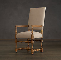 1890 English Baroque Fabric Armchair