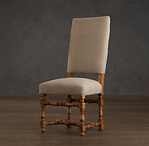 1890 English Baroque Fabric Side Chair