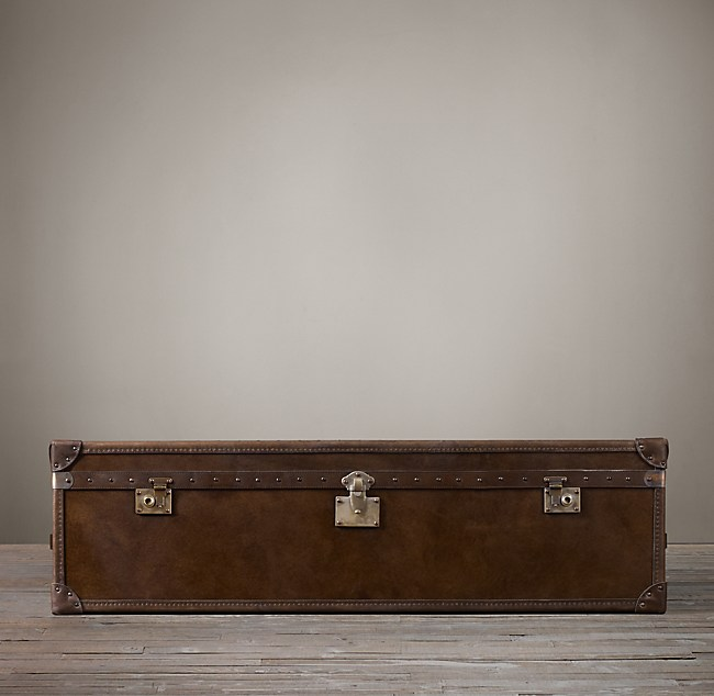 steamer trunk coffee table - vintage cigar