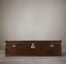 Mayfair Steamer Trunk Coffee Table - Vintage Cigar