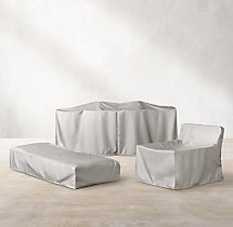 Provence Classic Two-Seat Armless Sofa Cover