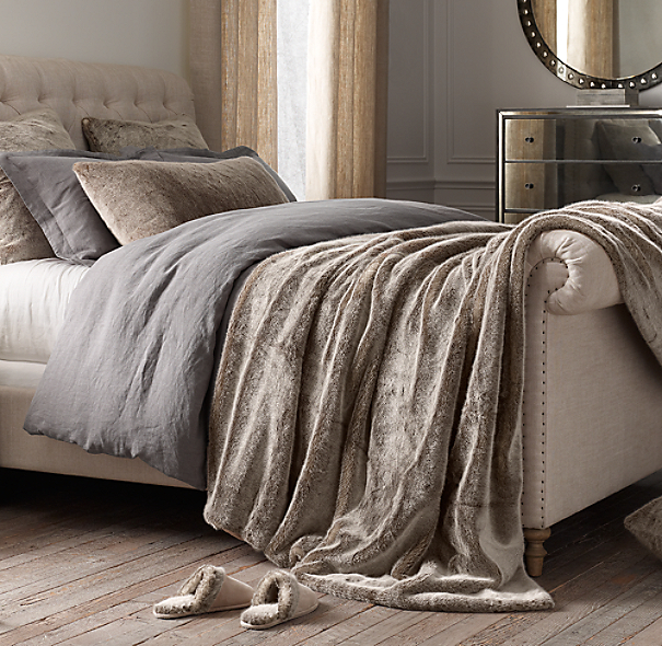 Luxe Faux Fur Oversized Bed Throw