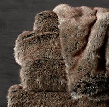 Luxe Faux Fur Oversized Bed Throw - Coyote