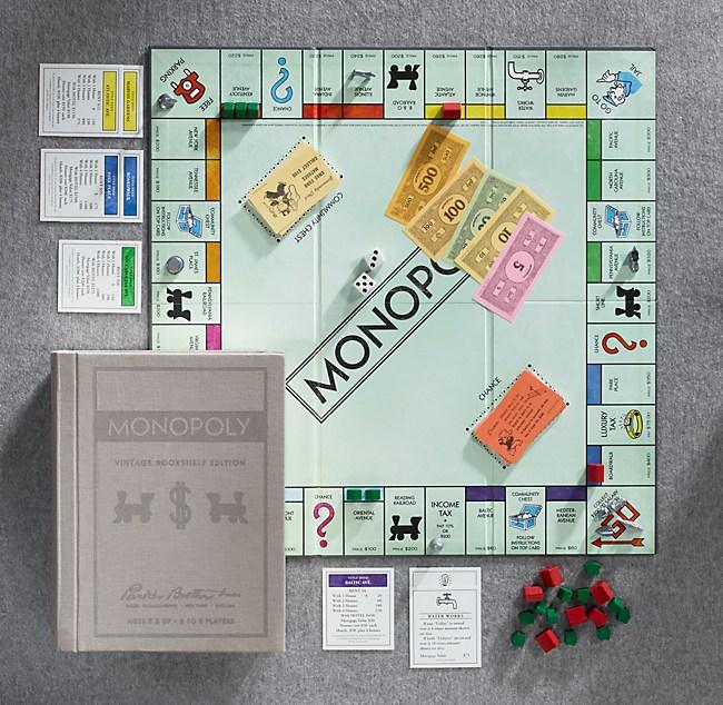 Vintage Bookshelf MonopolyR