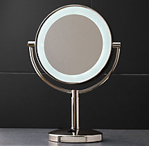 Modern Lit Tabletop Mirror
