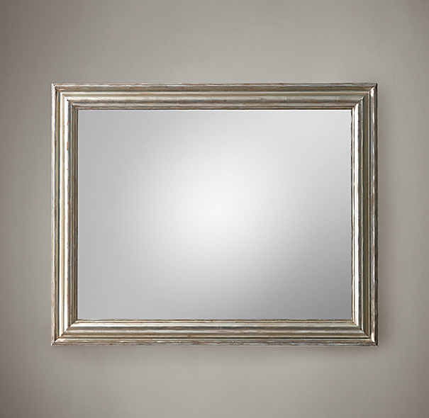 Baroque aged silver leaf mirror for Mirror 48 x 60