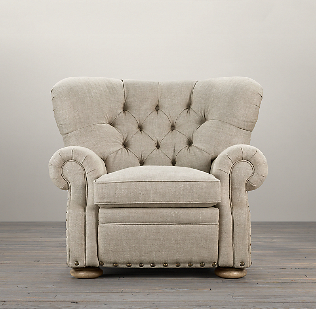 Churchill Recliner With Nailheads