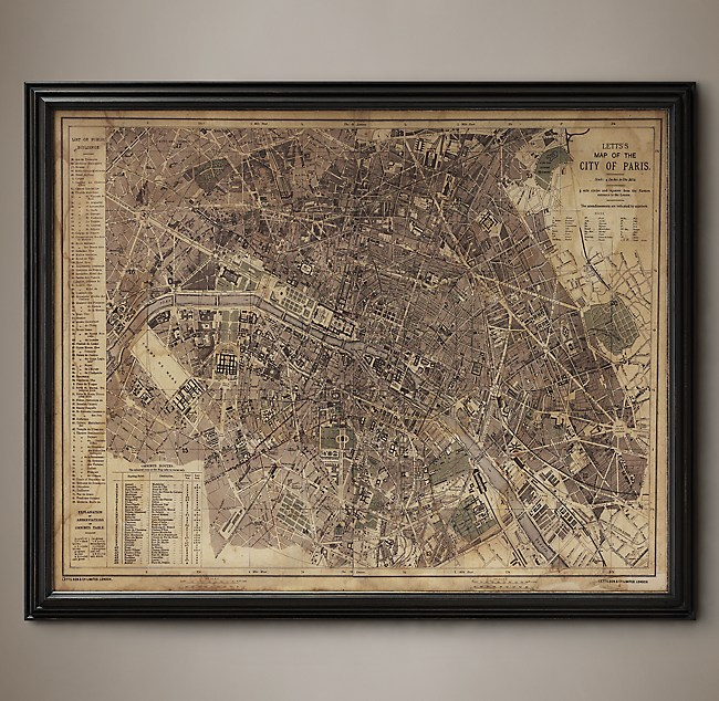 Circa Paris Map - Modern map of paris