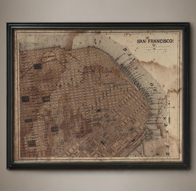 Circa 1887 San Francisco Map