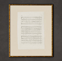 18th C. English Sheet Music Art 6