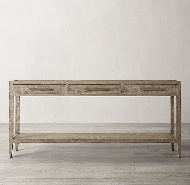 French Contemporary Console Table With 3 Drawers