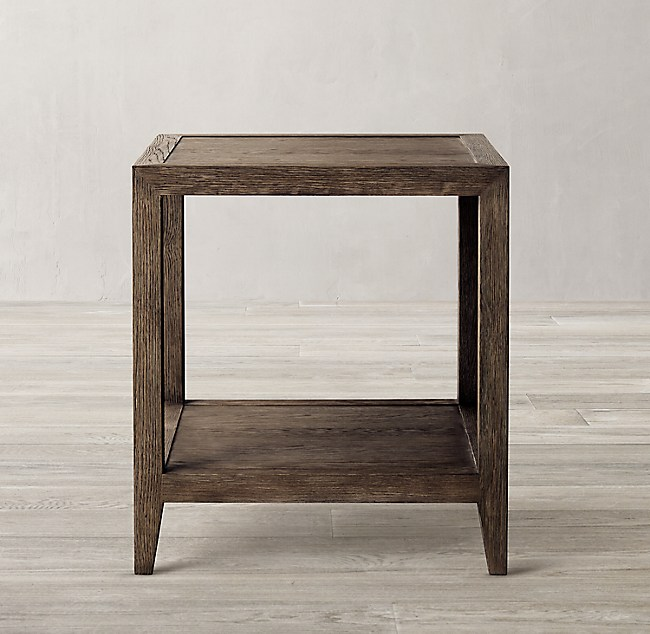 French Contemporary Square Side Table