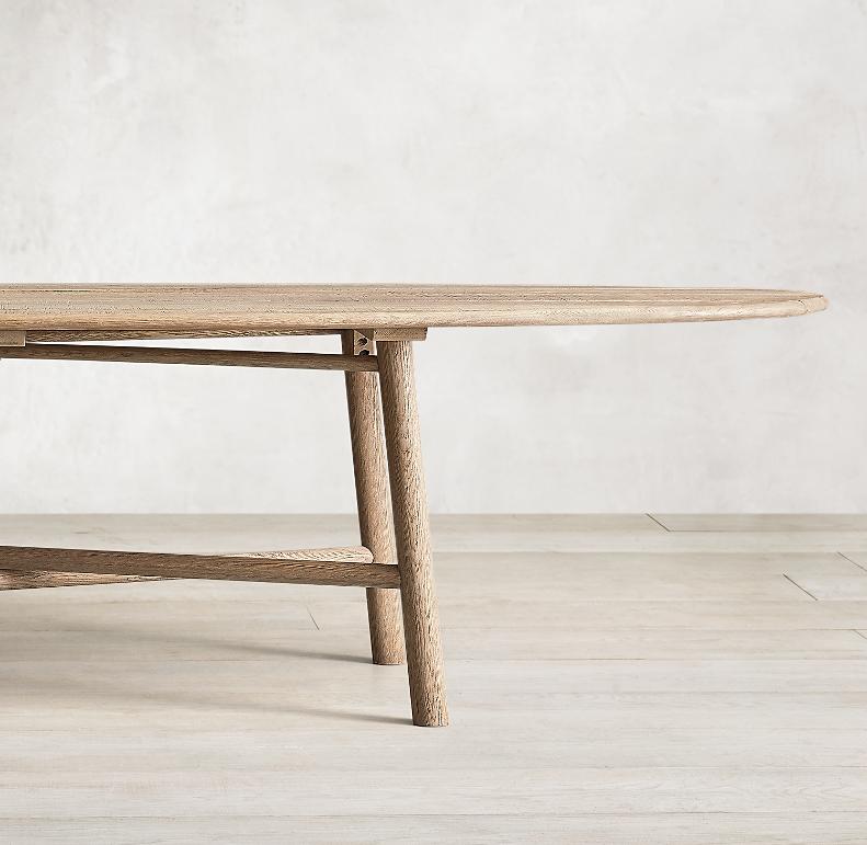 Surfboard Oak Oval Dining Table