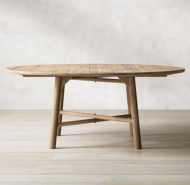 Playa Oak Round Dining Table