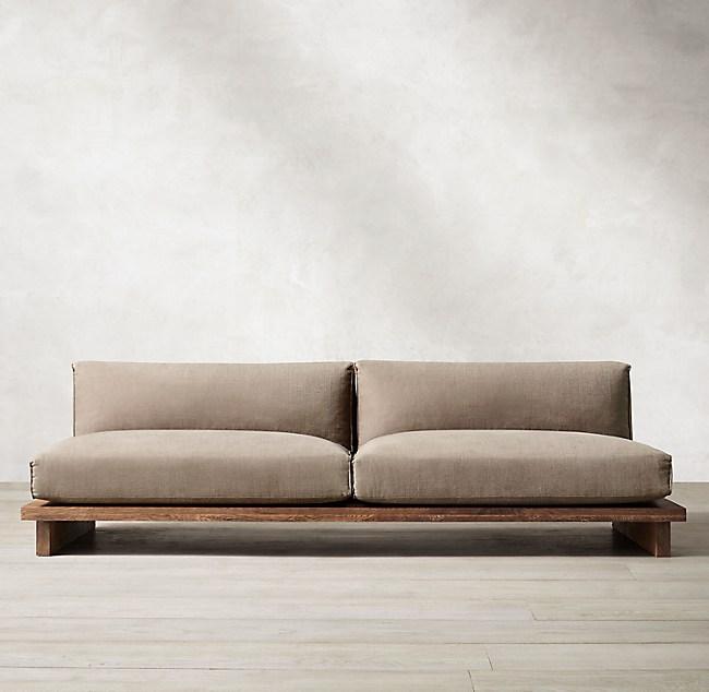 Sensational Oak Brule Sled Sofa Unemploymentrelief Wooden Chair Designs For Living Room Unemploymentrelieforg
