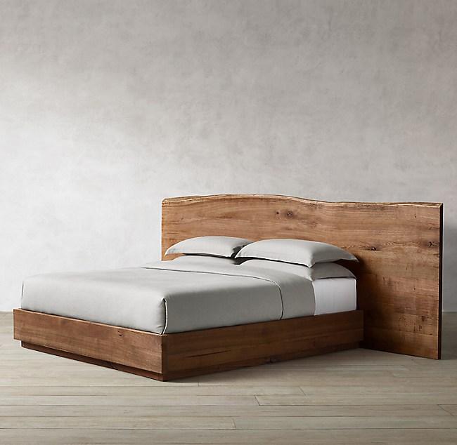 Oak Brule Live Edge Platform Bed