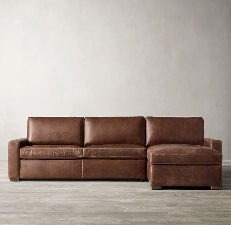 Maxwell Premium Leather Sleeper Right