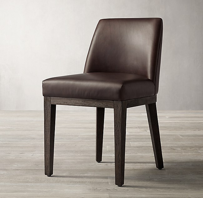 c4f5a6d9db Morgan Curved-Back Leather Side Chair